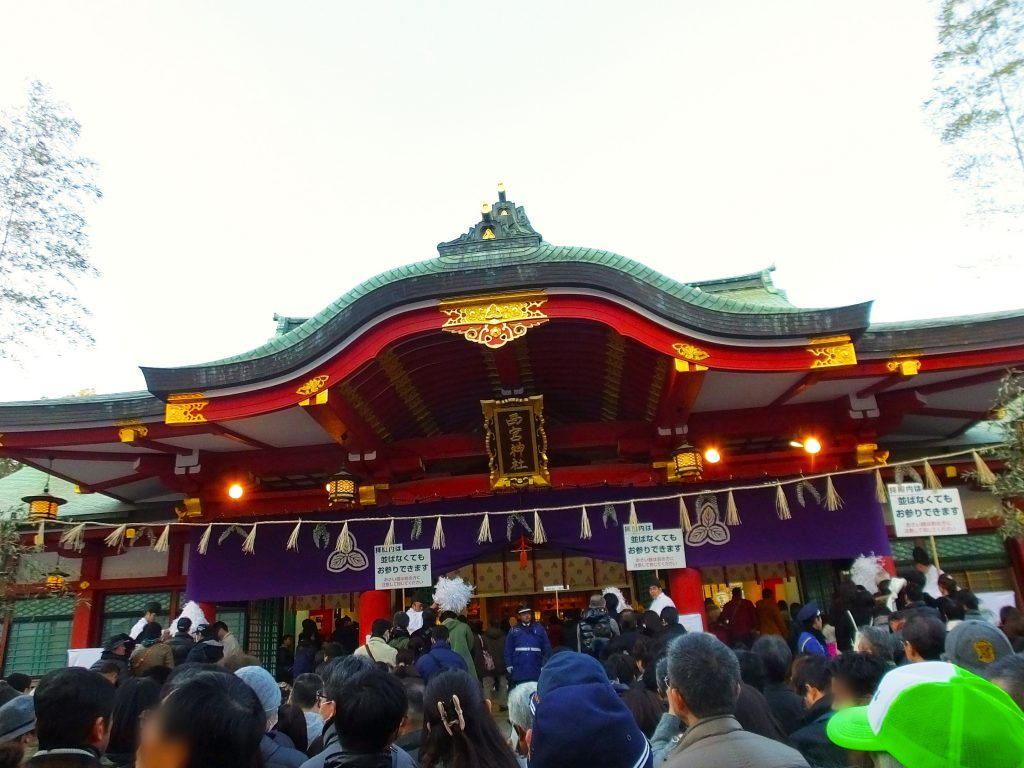 the haiden of Nishinomiya Shrine