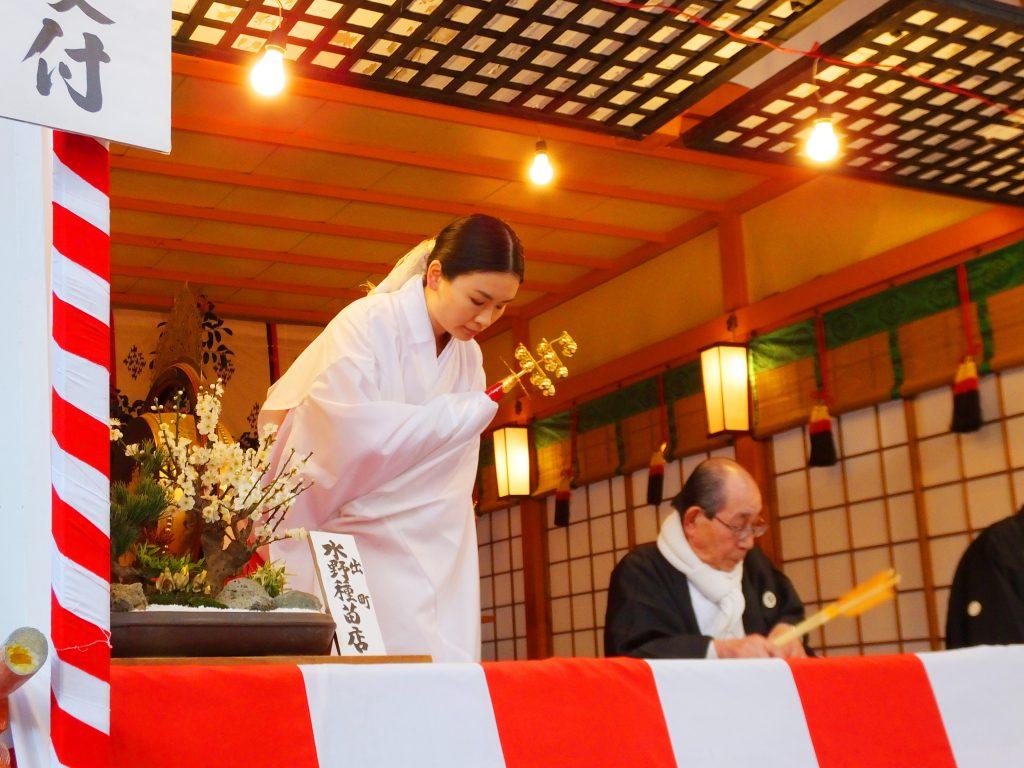 a Shinto priestess, miko2