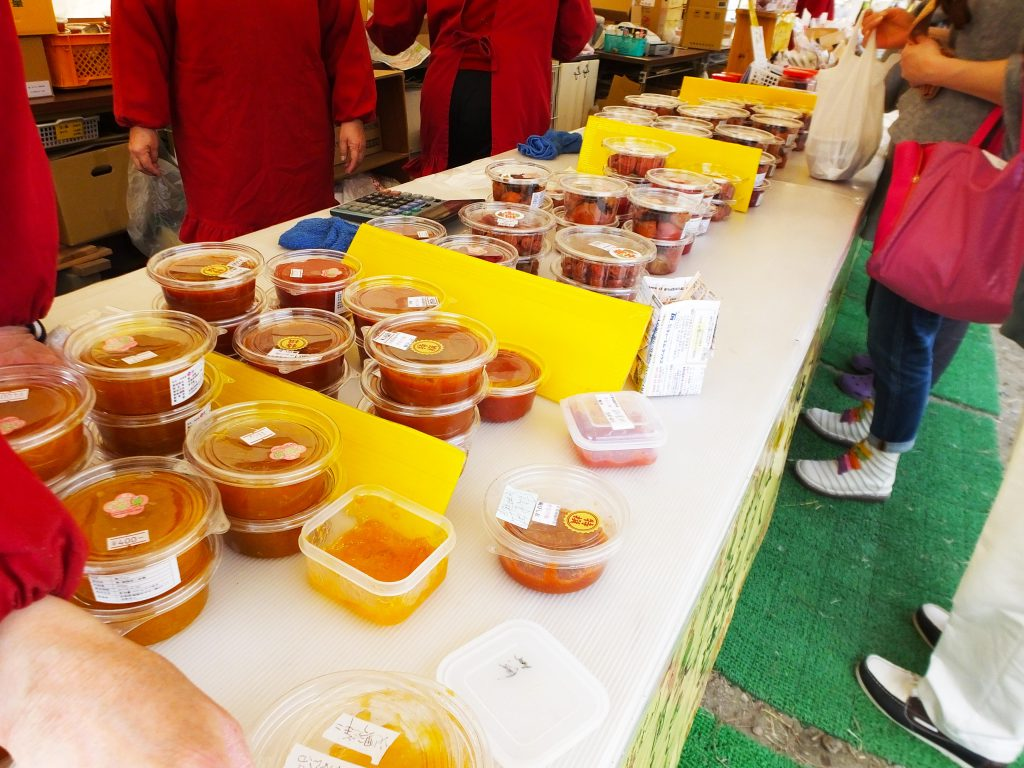 pickled ume fruits and ume jam