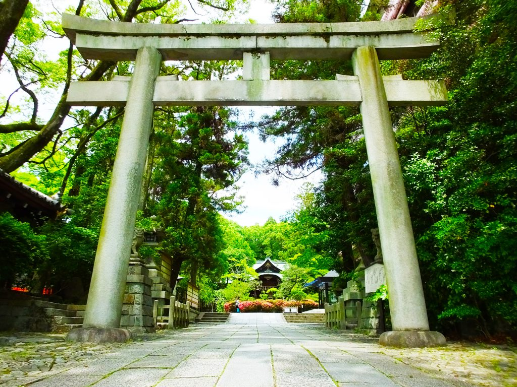 the entrance of Okazaki Shrine
