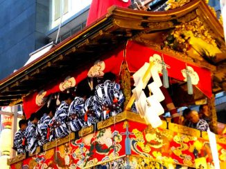 people-playing-Gion-bayashi-on-Naginata-hoko