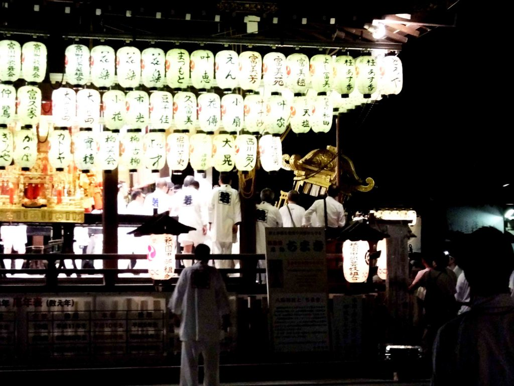the mikoshi in the shrine