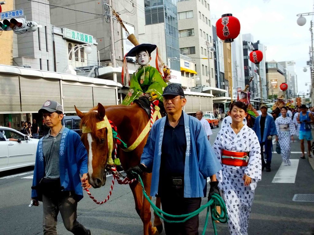 the parade to welcome the mikoshi 3