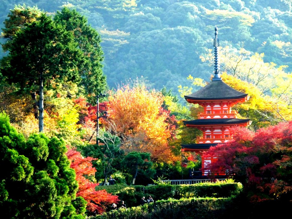 Koyasu Pagoda on the hill