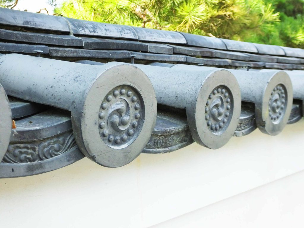 the eave-end roof tiles