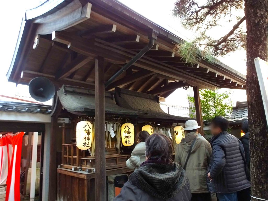 Yawata-jinja Shrine on the left, and Sarutahiko-jinja Shrine on the right