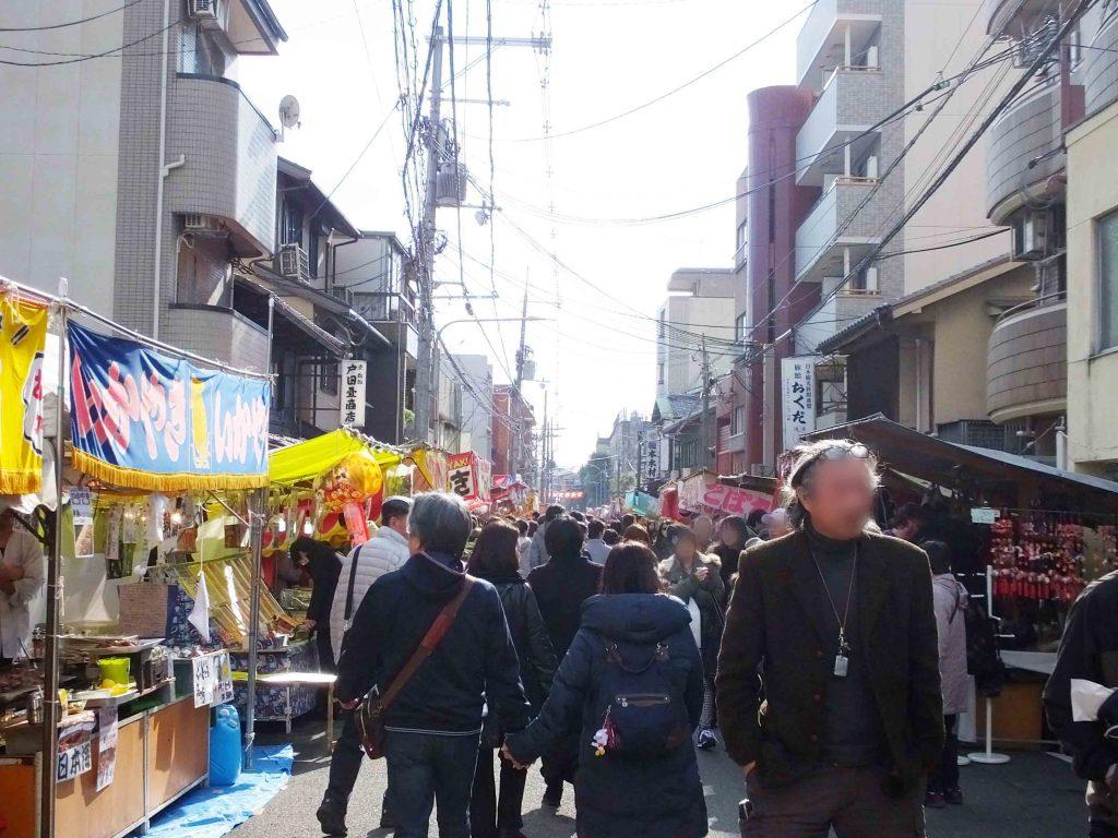 food stalls on the street