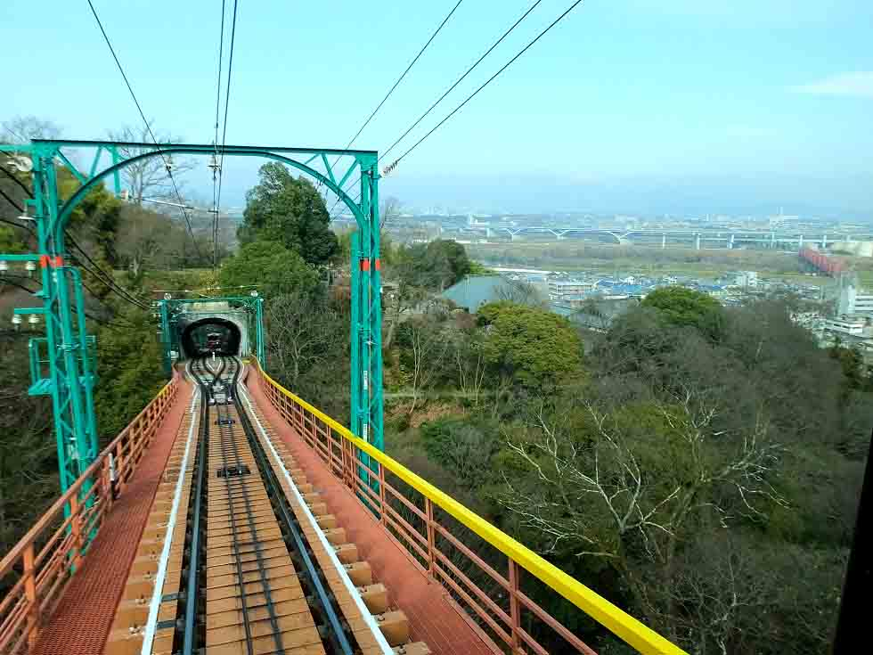 the railroad bridge and the view from the cable car