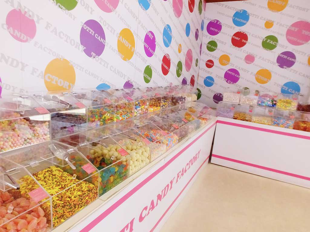 a variety of confectionery