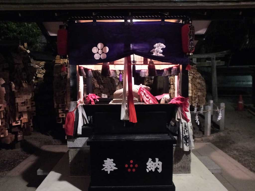 the shrine in the evening 2