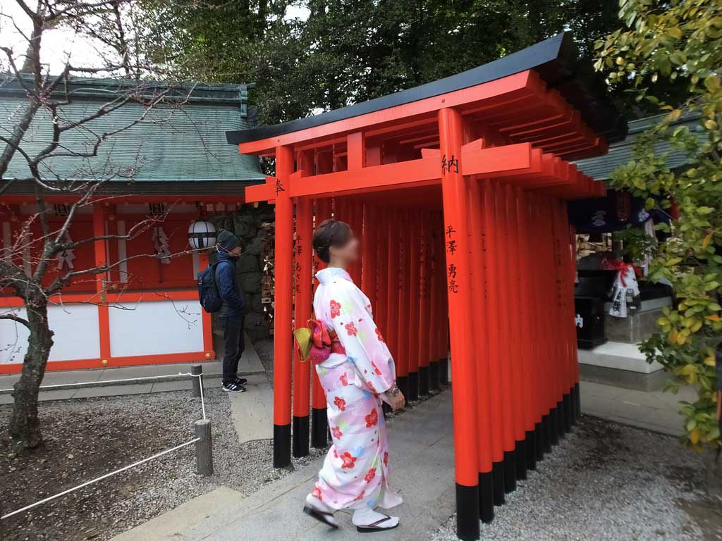 the torii gate and ema plaques