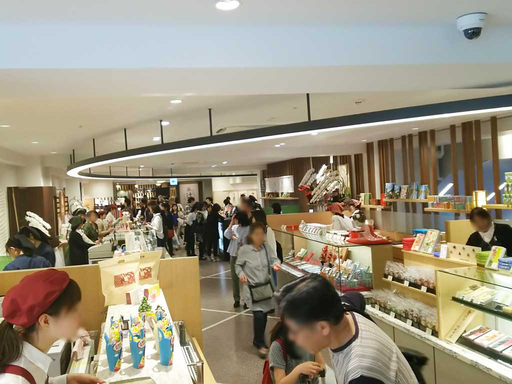 the first floor in Kyoto tower