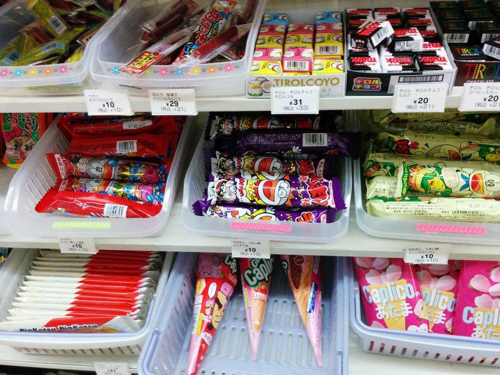 dagashi at a convenience store