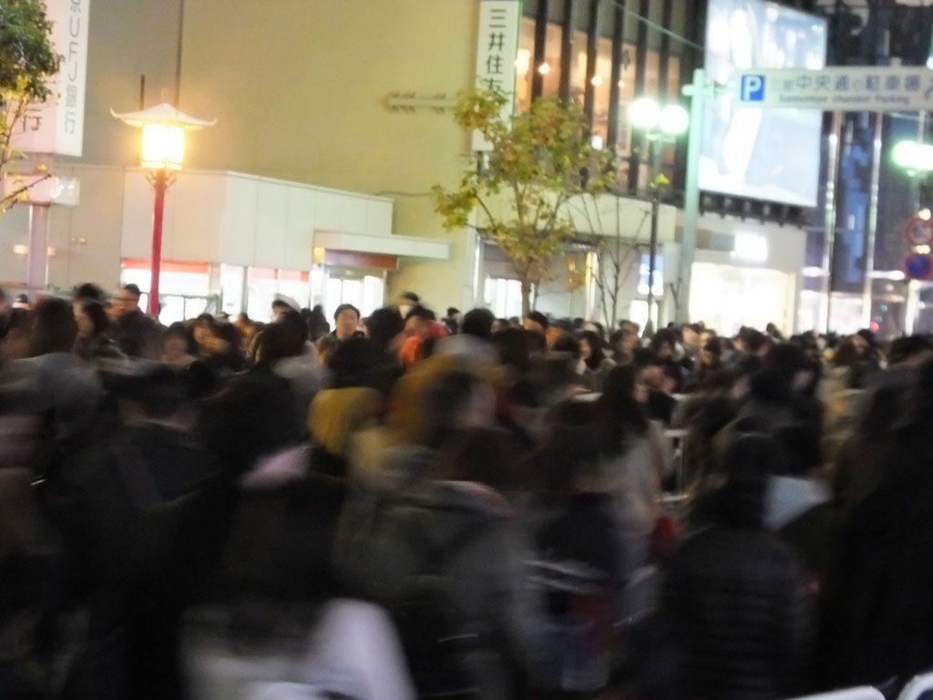 the crowds at Kobe Luminarie (2017)