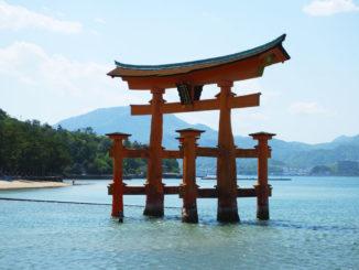 O-torii, a famous torii gate of Itsukushima Shrine
