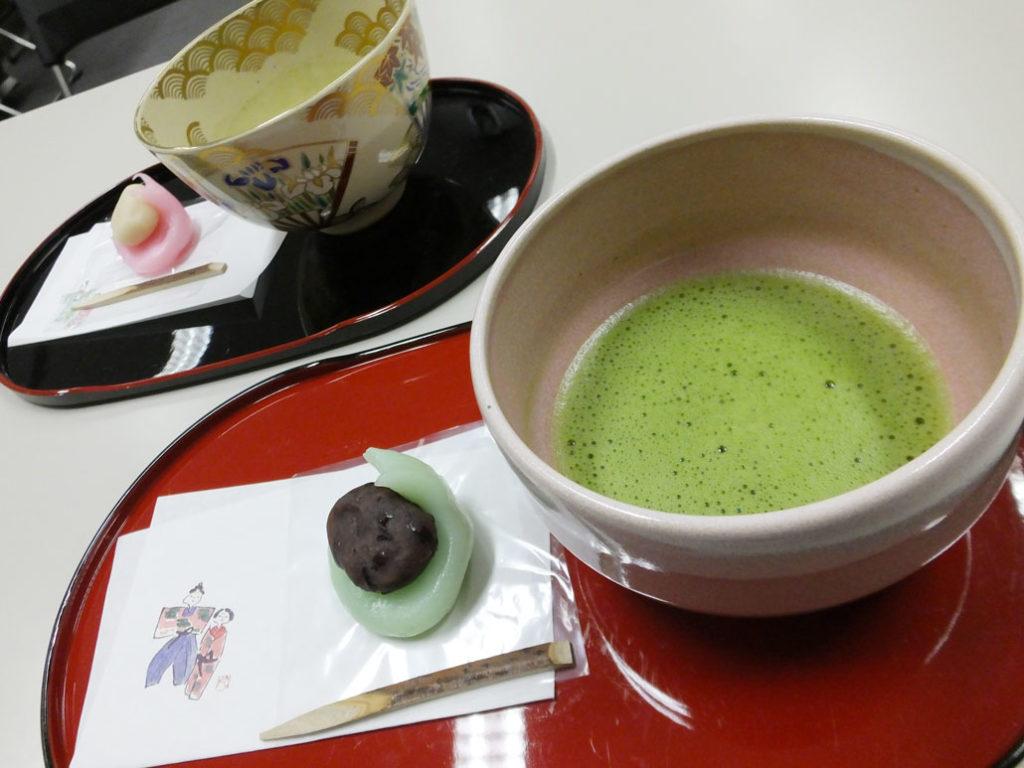 he matcha green tea and hichigiri