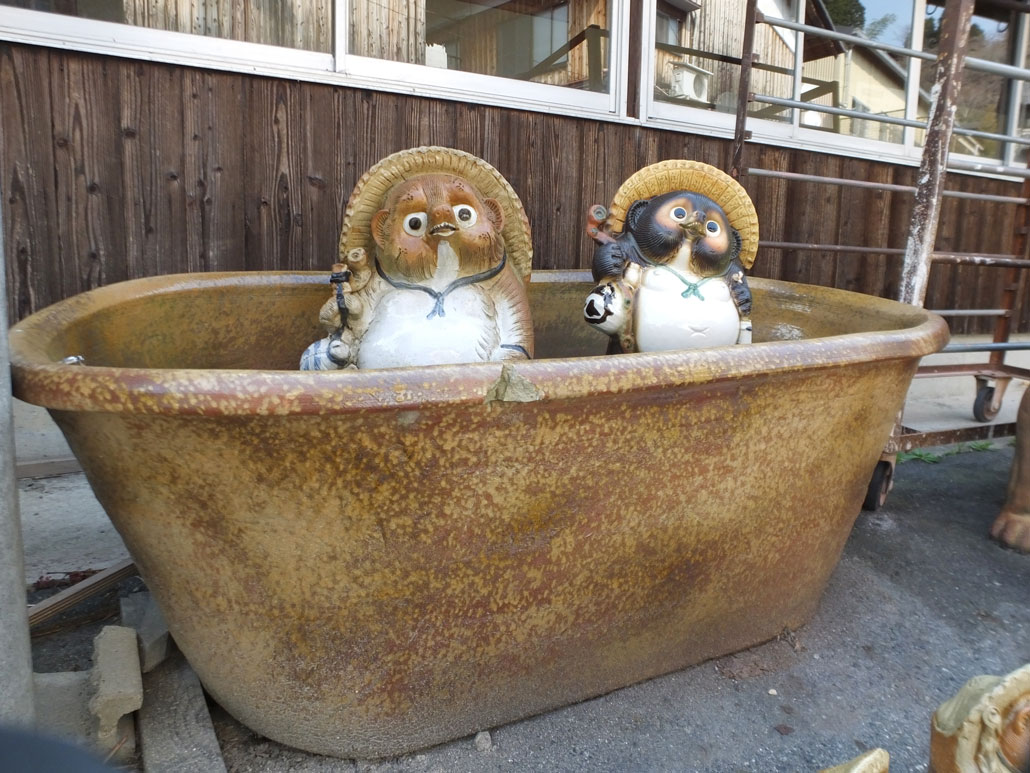 the tanuki pottery at Shigaraki Pottery Village