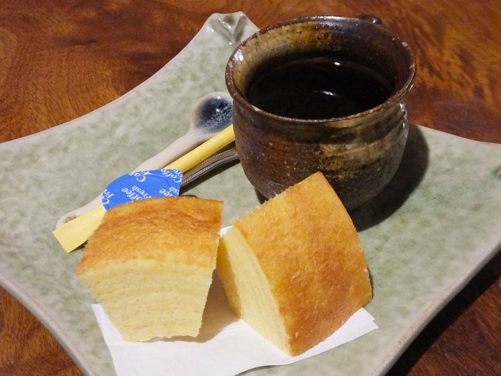 Baumkuchen Cake with coffee
