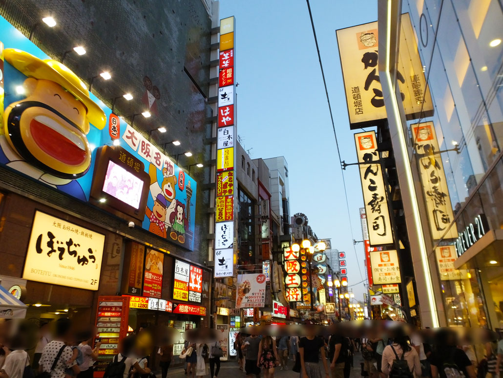 the Dotonbori area