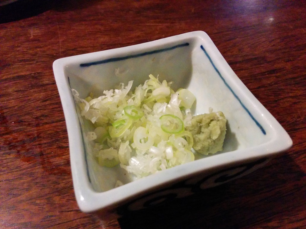 the spring onion and wasabi